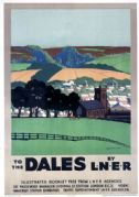 To The Dales, Yorkshire. LNER Vintage Travel Poster by Duff Tollemache